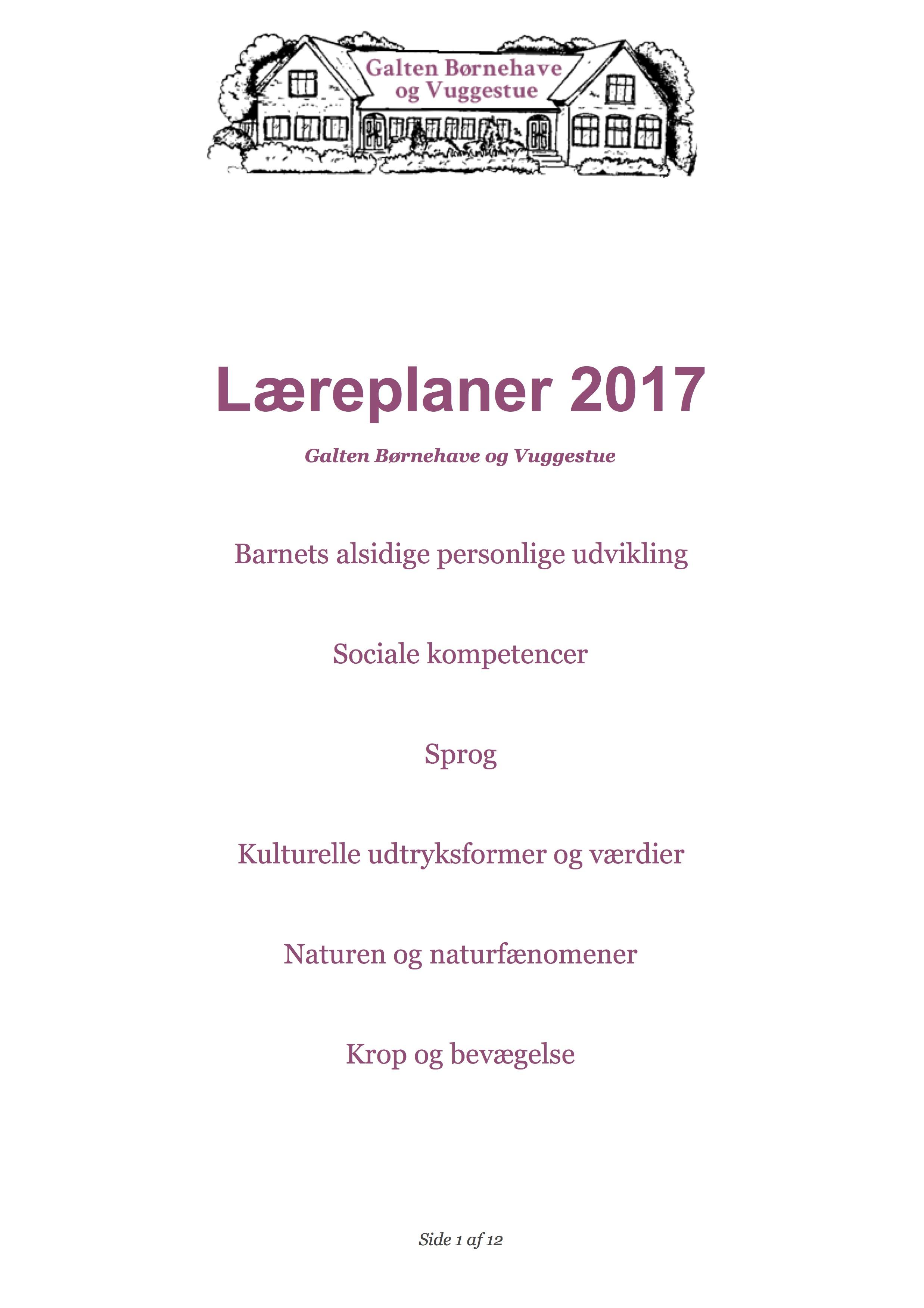 Læreplaner 2017 – GBV