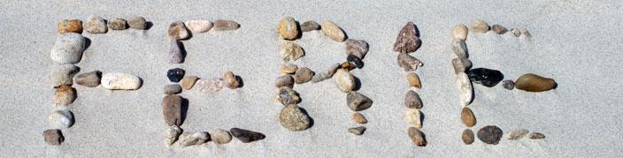 Ferie skrevet med sten