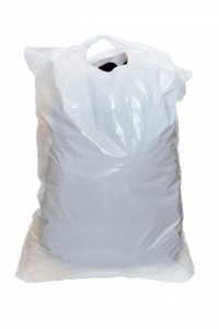 plastic bag under the white background